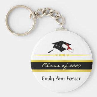 Elegant Graduation Key Ring - Class of 2009 Keychains