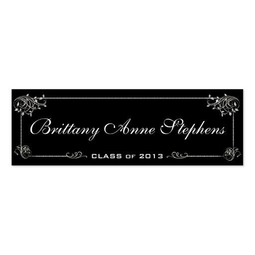 elegant graduation name card insert zazzle. Black Bedroom Furniture Sets. Home Design Ideas