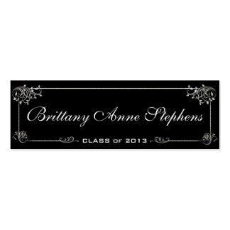 Elegant Graduation Name Card Insert Double-Sided Mini Business Cards (Pack Of 20)