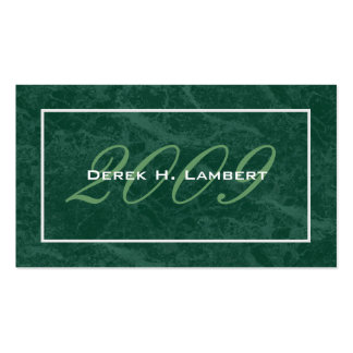 Elegant Graduation Name Cards - Class of 2009 Double-Sided Standard Business Cards (Pack Of 100)
