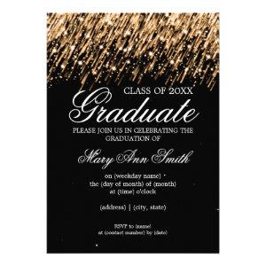 Elegant Graduation Party Falling Stars Gold