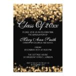 Elegant Graduation Party Gold Lights Card