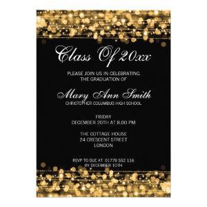 Elegant Graduation Party Gold Lights & Sparkles