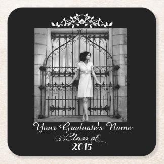 Elegant Graduation Party Paper Coasters Square Paper Coaster