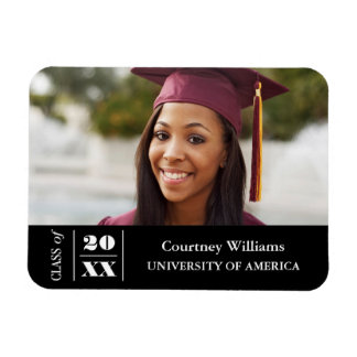 Elegant Graduation Photo with Year Magnet