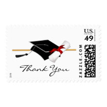 Elegant Graduation Thank You Postage Stamps