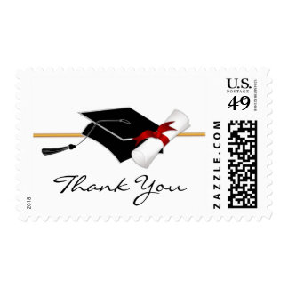Elegant Graduation Thank You Postage Stamps