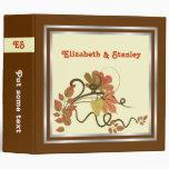Elegant grape vine & fall leaves wedding binder