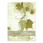 Elegant grapevine fall wedding bridal shower 5x7 paper invitation card