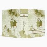 Elegant grapevine fall wedding planner binder