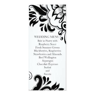 Elegant Graphic Vintage Floral Wedding Menu Customized Announcement Cards