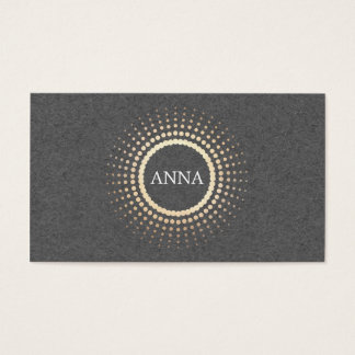 Elegant Gray and Gold Circles Jewelry Desginer Business Card