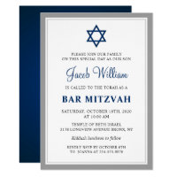 Bar & Bat Mitzvah Invitations<