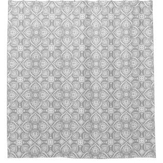 Elegant Gray And White Damask Pattern