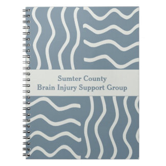 Elegant Gray Brain Injury Support Group Notebook