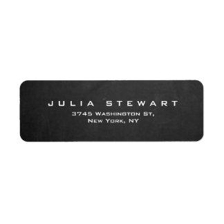 Elegant Gray Chalkboard Professional Modern Label