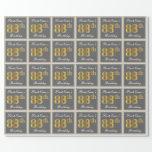 [ Thumbnail: Elegant, Gray, Faux Gold 88th Birthday + Name Wrapping Paper ]