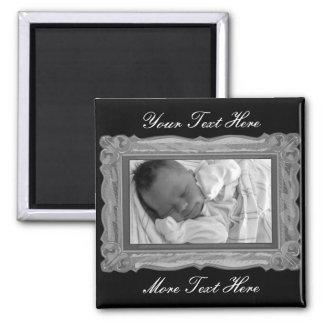 Elegant Gray Frame Magnet