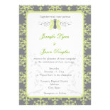 Elegant Gray & Green Garden Wedding Invitations
