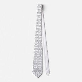 Elegant Gray Overlay Silk Tie