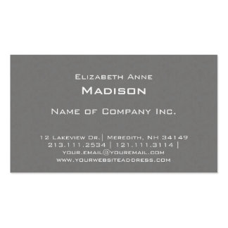 Elegant Gray Textured Monogram Centered Classic Double-Sided Standard Business Cards (Pack Of 100)
