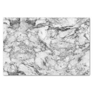 "Elegant gray white modern marble texture patterns 10"" x 15"" tissue paper"