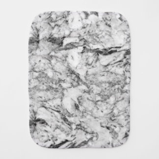 Elegant gray white modern marble texture patterns baby burp cloth