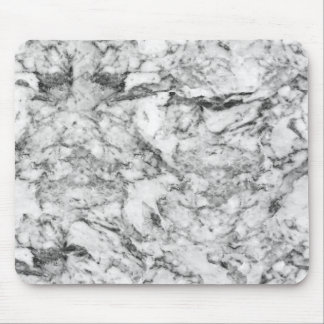Elegant gray white modern marble texture patterns mouse pad