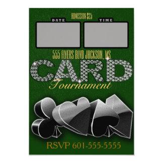 Elegant Green and Gold Card Tournament Invite