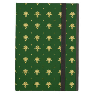 Elegant Green and Gold Damask Cover For iPad Air