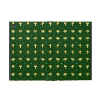 Elegant Green and Gold Damask iPad Mini Case