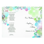 Elegant Green And Multi Color Pansies With Swirls Flyer
