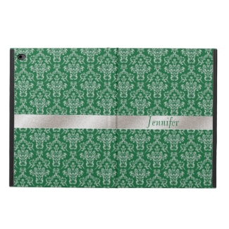 Elegant Green and Silver iPad Air 2 Case