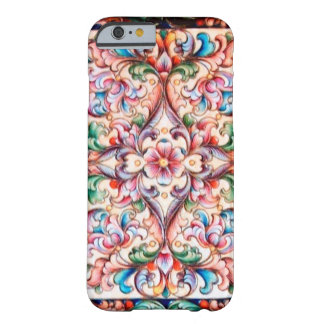 ELEGANT GREEN BLUE PINK RED FLORAL FANTASY BARELY THERE iPhone 6 CASE