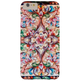 ELEGANT GREEN BLUE PINK RED FLORAL FANTASY BARELY THERE iPhone 6 PLUS CASE
