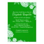 Elegant Green Bridal Shower Invitations Invitations