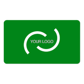 Elegant green card. Customize with your own logo. Double-Sided Standard Business Cards (Pack Of 100)