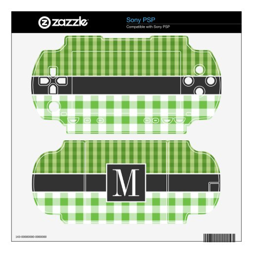 Elegant Green Checkered Sony PSP Decals