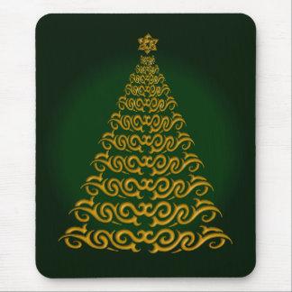 Elegant  Green Christmas Tree Mouse Pad