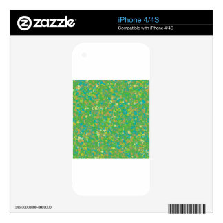 Elegant Green Confetti TEMPLATE Add text image fun Skins For The iPhone 4S
