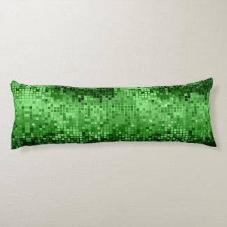 Elegant green Disco Glitter Retro Design Body Pillow