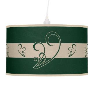 Elegant Green Floral Pendant Lamp
