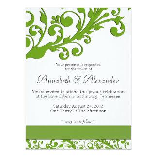 Elegant Green Floral Wedding Card