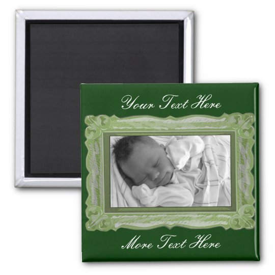 Elegant Green Frame Magnet