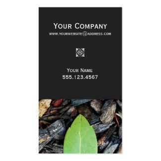 Elegant Green Leaf Landscape Designer Nature Double-Sided Standard Business Cards (Pack Of 100)