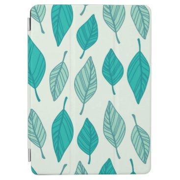 Elegant Green Leaves Pattern   iPad Air Case