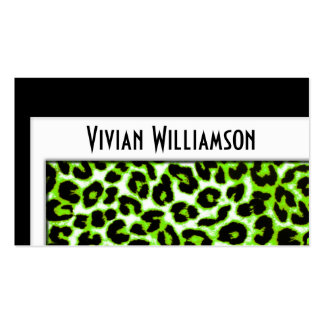 Elegant Green Leopard Professional Business Card