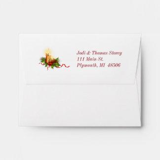 Elegant green lined Christmas Envelope