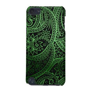 Elegant green Paisley Pattern iPod Touch 5G Case