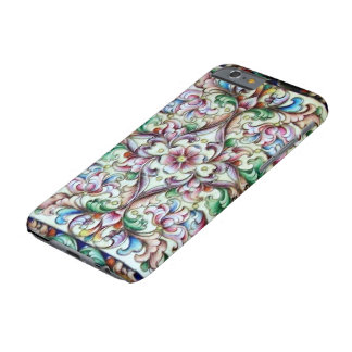 ELEGANT GREEN PINK FLORAL FANTASY BARELY THERE iPhone 6 CASE